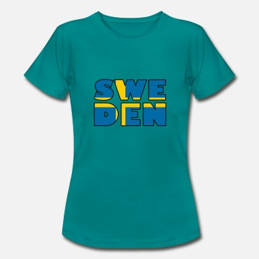 Flaggen Alphabet Schweden Flagge Text - Frauen T-Shirt