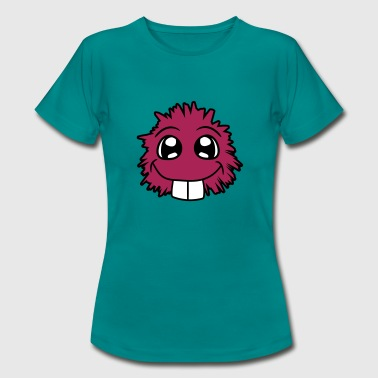 klein suess niedlich haarig comic cartoon clipart - Frauen T-Shirt