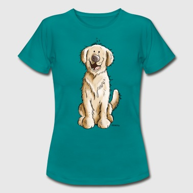 Golden Golden Retriever - T-skjorte for kvinner