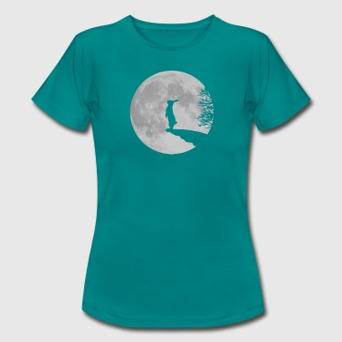 Wolfinchen rabbit bunny bunnies hare jackass moon werewolf fullmoon ledge - Women's T-Shirt