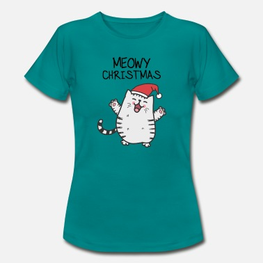 Cat Christmas Meowy Christmas cat for Christmas - Women's T-Shirt