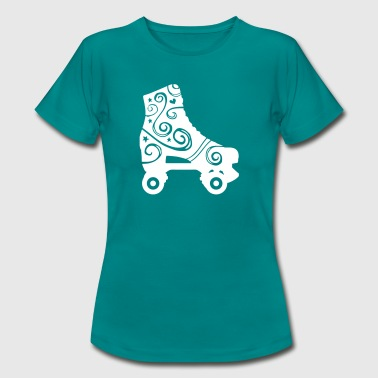 skates decorated 1c 2 / rollerskates - T-shirt Femme