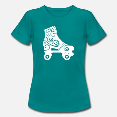 Faire Du Rollerskate skates decorated 1c 2 / rollerskates - T-shirt Femme