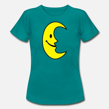 Illustration Smiley Lune - T-shirt Femme