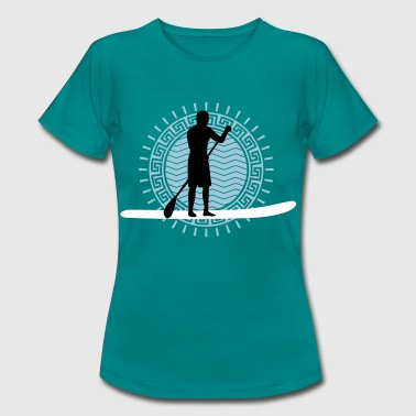 stand_up_paddling_man_062016b_3c - Frauen T-Shirt