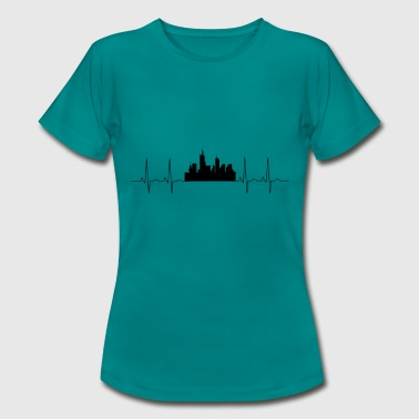 Handkaes I love Frankfurt am Main. Heartbeat shirt - Women's T-Shirt