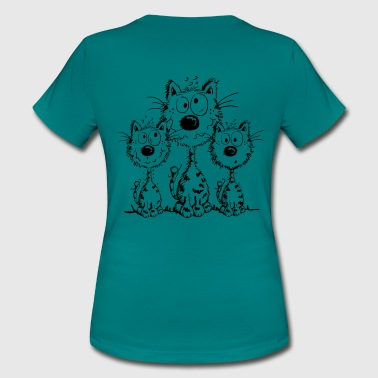 Three Best Friends - Cat - Cats - Gift - Women's T-Shirt