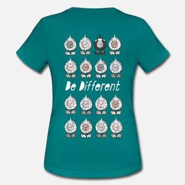 Be Different Be Different Moutons - T-shirt Femme