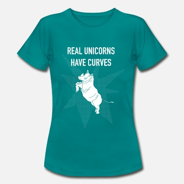Kurven Real Unicorns have Curves! Weiß - Frauen T-Shirt