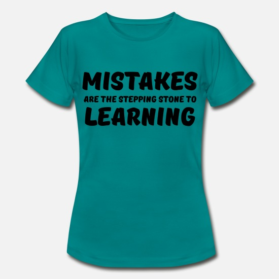 Motivation T-shirts - Mistakes are the stepping stone to learning - T-shirt dam divablå