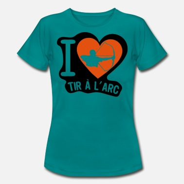 Bow Box love shooting bow heart - Women's T-Shirt