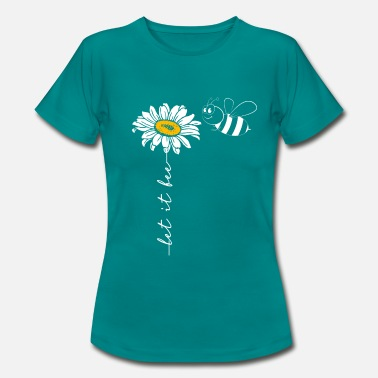 Let Let it bee - a heart for bees - Women's T-Shirt