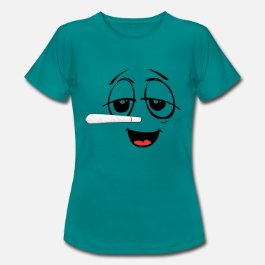 Smilie mit Jointnase - Frauen T-Shirt