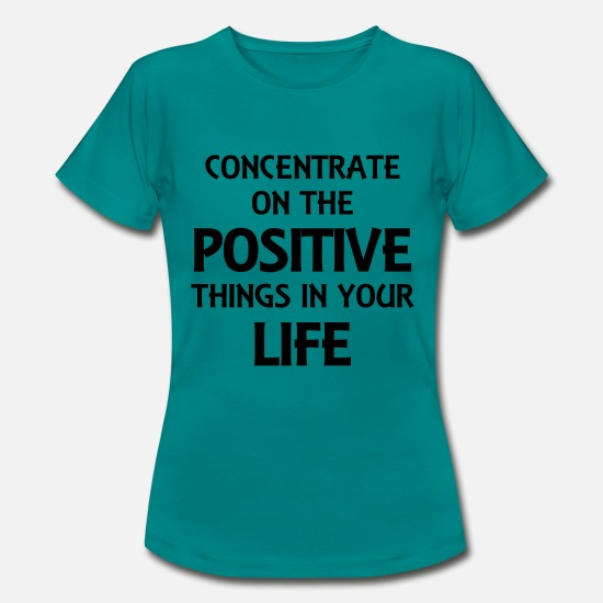 Love T-Shirts - Concentrate on the positive things - Women's T-Shirt diva blue