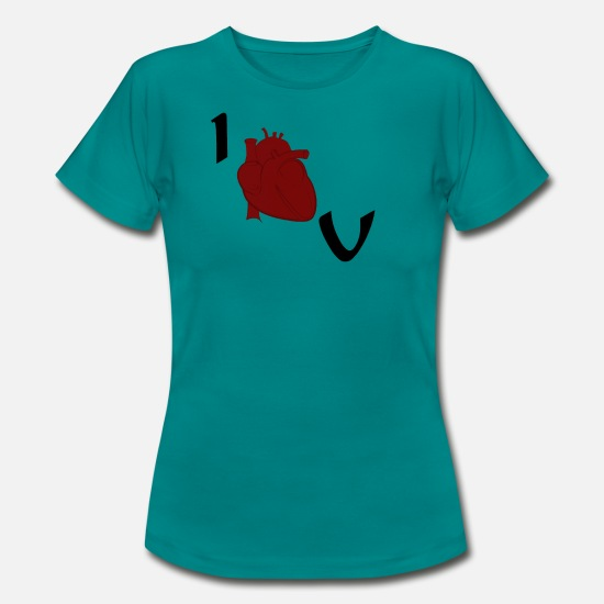 Love T-Shirts - I Love U - Women's T-Shirt diva blue