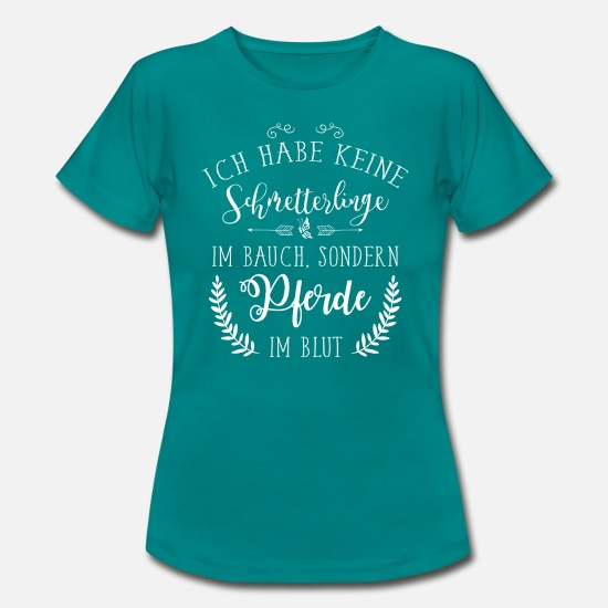 Show Jumping T-Shirts - Horses & Riding - Horses in the blood - Women's T-Shirt diva blue