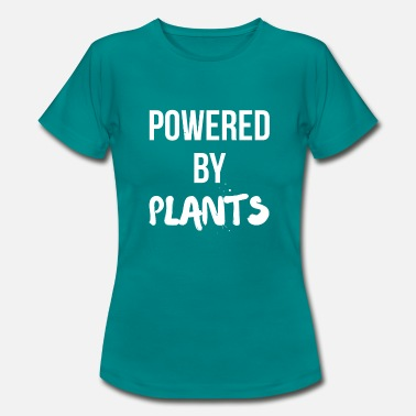Power Plant Powered by PLANTS - Women's T-Shirt