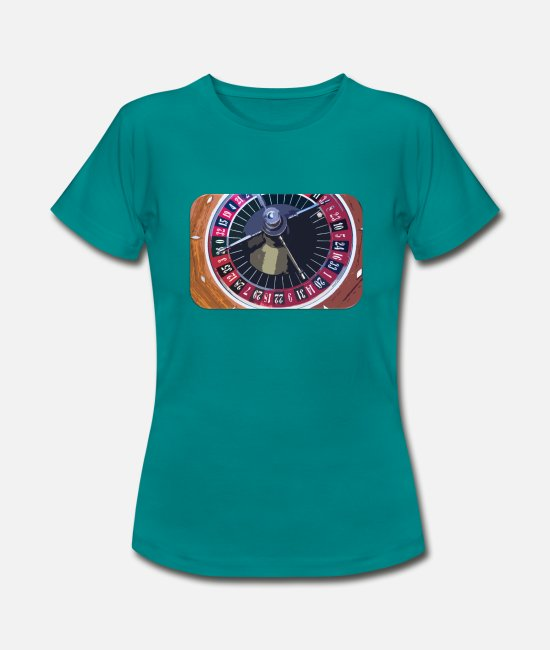 Board T-Shirts - Roulette table2 - Women's T-Shirt diva blue