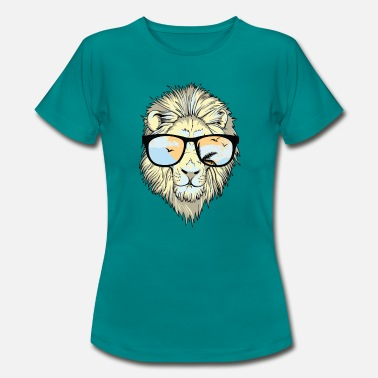 Lion Heart with Shades - Women's T-Shirt