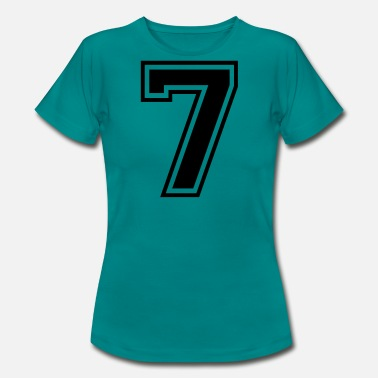 Seven 7 number seven digit number back number gift - Women's T-Shirt