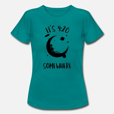 Cannabisleaf its always 420 somewhere weed saying - Women's T-Shirt