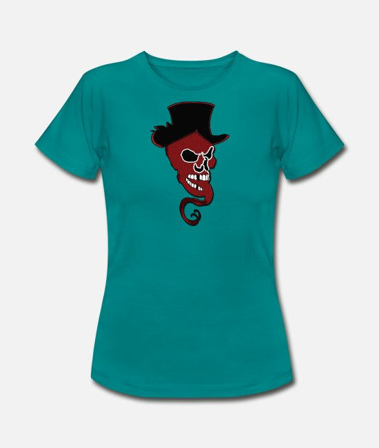 Die T-Shirts - Skull with hat Whimsical gift - Women's T-Shirt diva blue