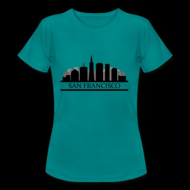 san francisco skyline - Vrouwen T-shirt