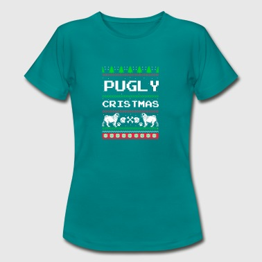 Pugly jul - Dame-T-shirt