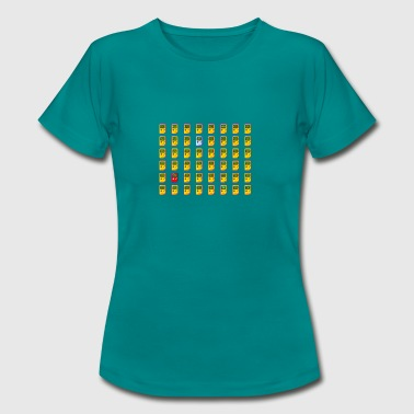 8-bit retro Game Boy emojis - Vrouwen T-shirt