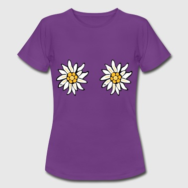 sexy flowers lesbian cool sex provocation Pride  - Women's T-Shirt