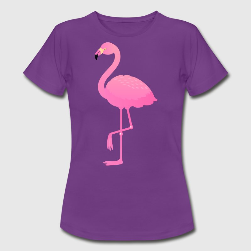 Cute Pink Flamingo Illustration - Women's T-Shirt