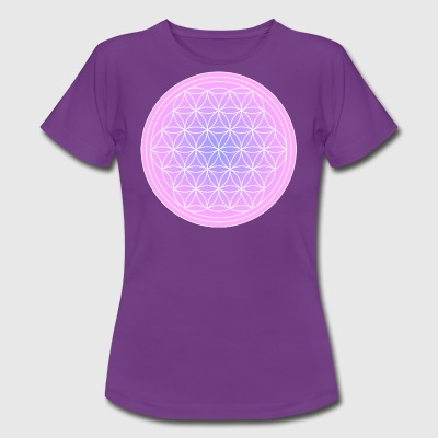 Flower of Life roze paars - Vrouwen T-shirt
