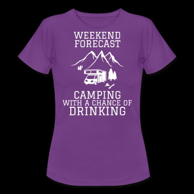 Camping Forecast - Women's T-Shirt