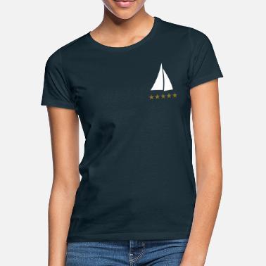 bdd942ad sailing sail boat yacht cruiser sailboat - Women's T-Shirt