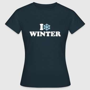 I love Winter - Frauen T-Shirt