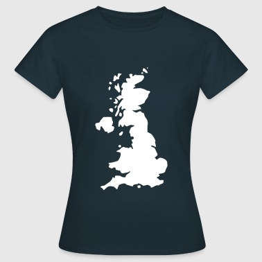Karte UK, UK Map - T-shirt Femme