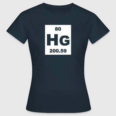 Quicksilver (Hg) (element 80) - Women's T-Shirt