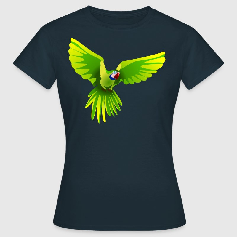 Ara fliegt grün - flying green Ara - Camiseta mujer