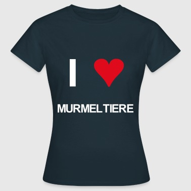 I love Murmeltiere - Frauen T-Shirt
