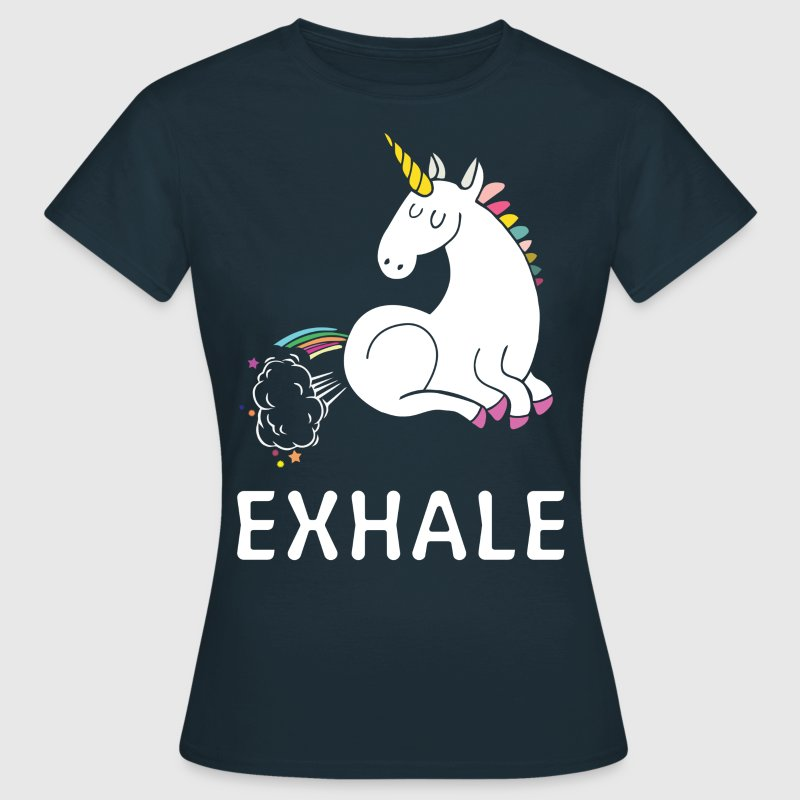 Exhale Unicorn - Women's T-Shirt