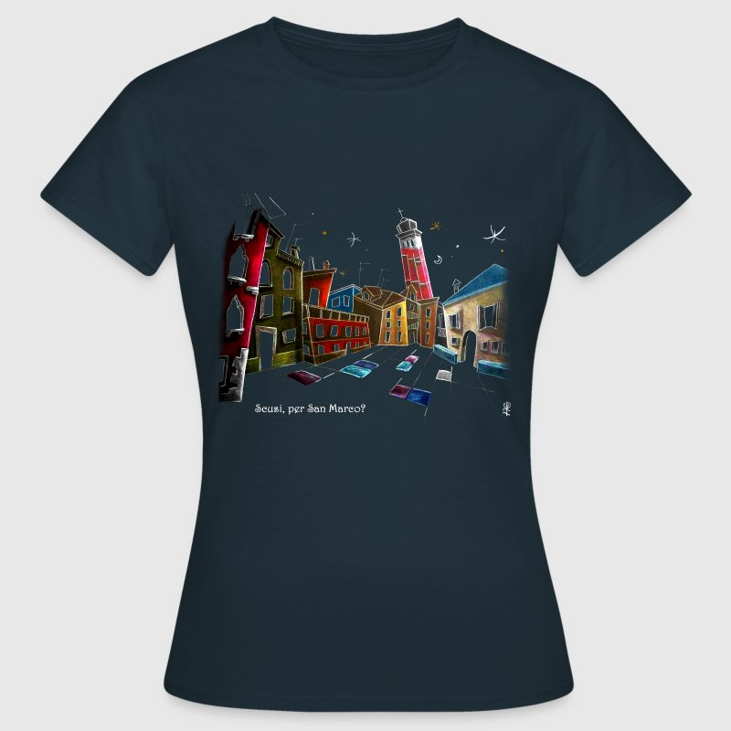 Art T-shirt Design Venice Italy - Children Fantasy Illustration - Women's T-Shirt