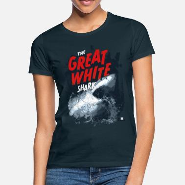 Sharks Animal Planet Ocean Cool Great White Shark - Women's T-Shirt