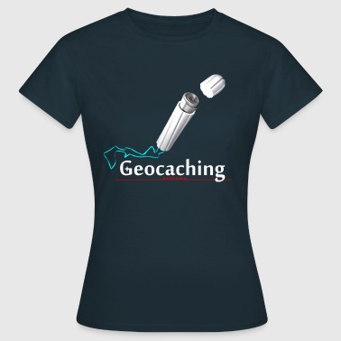 Geocaching Microcache Tampon - Frauen T-Shirt