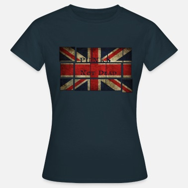 English Flag Punks Not Dead on the English flag.  - Women's T-Shirt