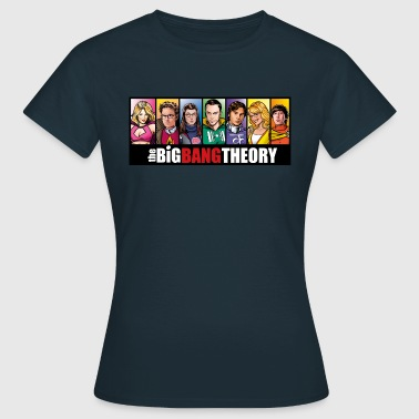 The Big Bang Theory Comic Teenage T-Shirt - Dame-T-shirt
