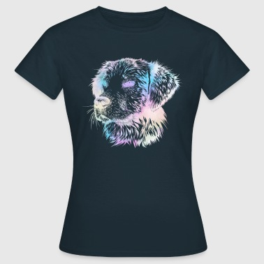 Dog colorful silhouette abstract dog - Women's T-Shirt
