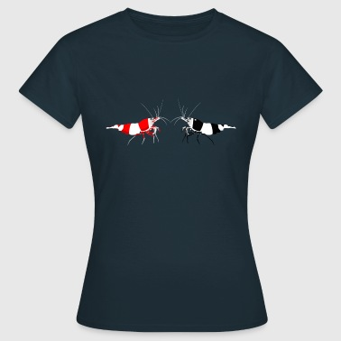 Crystal Red Black Bee dwarf prawn shrimp - Women's T-Shirt