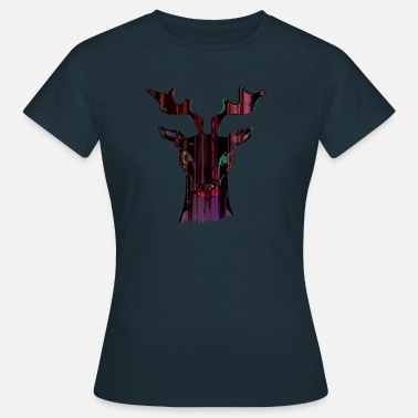 Colour Abstract Deer - Women's T-Shirt