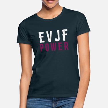 4791948874c16 Enterrement De Vie De Jeune Fille evjf power - T-shirt Femme