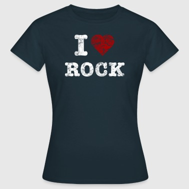 I Love Rock vintage light - Dame-T-shirt
